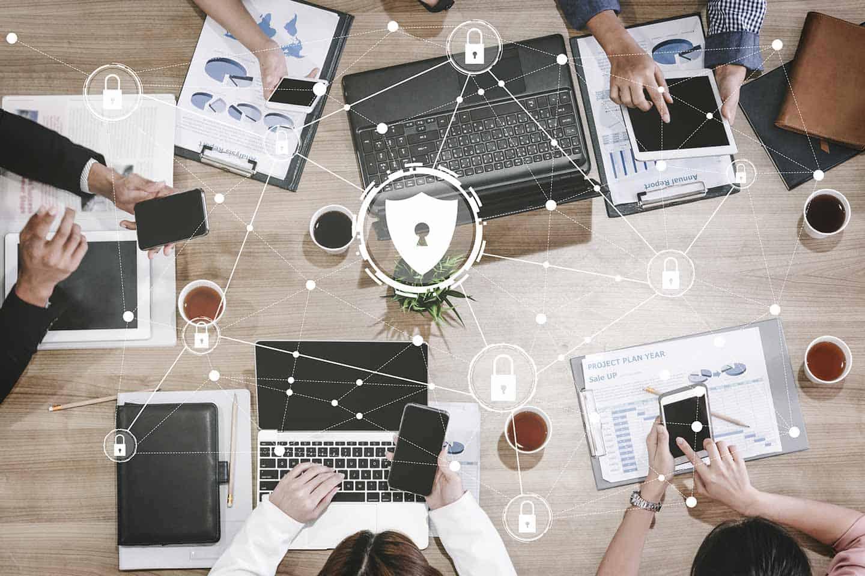 Cyber-Sicherheit und Digital Data Protection Konzept.